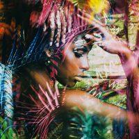 African art woman vierkant