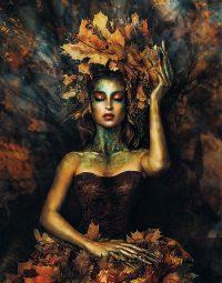 leaves-woman-dark-verticaal
