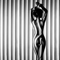 Stripes woman vierkant